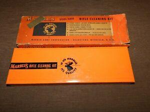 VINTAGE MARBLE'S STEEL CASE METAL BOX  GUN RIFLE CLEANING KIT