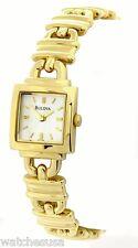 Bulova Mini Women's Gold Tone Square Silver Dial Watch L127851