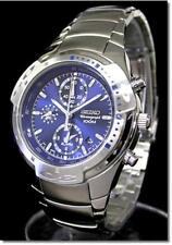 SEIKO Alarm Chronograph SNA169 SNA169P1 Men Blue Dial Stainless Steel Watch