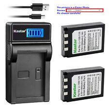 Kastar Battery LCD Charger for Olympus Li-10B Li-12B Li-10C Stylus 600 Digital