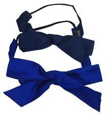 Chanel Navy and Royal Blue Satin Bow Headbands