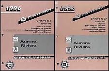 1996 Aurora Riviera Shop Manual Set 96 Repair Service Book Olds Oldsmobile Buick