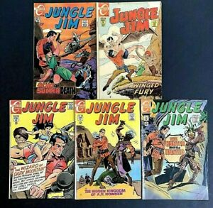 Jungle Jim 🔥 #'s 22,24,25,26, & 27! Charlton Comics 1969!