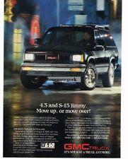 1988  GMC S-15 Jimmy Black Truck Vtg Print Ad
