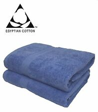 BATH TOWEL 2x CHINA BLUE 100% EGYPTIAN COTTON LUXURY SUPER SOFT AMAZING QUALITY