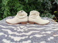Koah Beige snakeskin texture leather ankle boots UK 6.5 EU 40