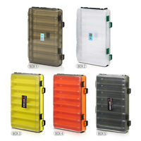 14 Compartment 2 Layer Waterproof Fishing Lure Bait Tackle Storage Box Case
