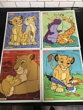 Disney Lot of 4 Wood Puzzles Lion King Simba Playskool