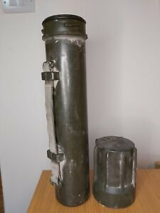 Military Mortar Shell Case, Vintage Mortar Cartridge Canister Waterproof Case