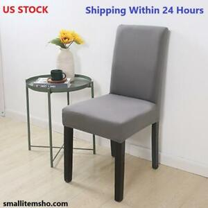 2/4/6PCS Fabric Chair Cover for Dining Room Chairs Covers High Back Living Room
