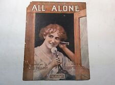 "Antique sheet music""All Alone""By:Will Dillon and Harry VonTilzer"