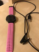 Garmin Forerunner 235 Heart Rate GPS Running Watch Black/Teal With Pink Band