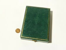 Vintage Green Mottled EMPTY Display Box Jewellery Brooches Collector #PL1