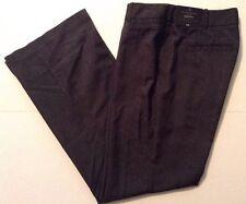 Worthington Curvy Fit Womens Dress Pant Trouser Leg Gray Plaid  Petite 4S Short