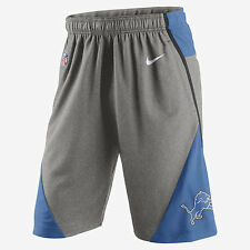 NIKE NFL DETROIT LIONS FLY PERFORMANCE 4.0 DRI-FIT SHORTS 802499-063 MENS SZ XL