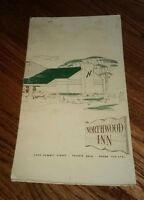 Vintage RESTAURANT MENU Northwood Inn SUMMIT STREET Toledo Ohio ORIGINAL closed