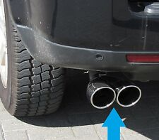 twin exhaust tail pipe stainless Land Rover Freelander 2 DIESEL tip TD4 chrome
