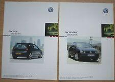 Lot 2 Feuillets Volkswagen Polo esp+ et design+- France - 06/03 - 2 x 2pages