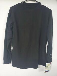 NWT Crew Layer Shirt/women Sz.x large Quattro Fleece-Black-Acclimate Dry Wicking
