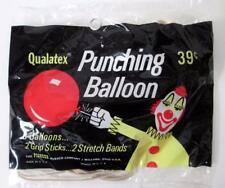 Vintage Pioneer Rubber Company Punching Balloons,Toys,Bag of 3 With Clowns