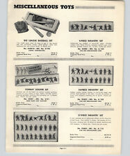 1952 PAPER AD Van Den Berg-Kraemer Cast Toy Soldiers Infantry Archer Space Men