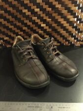 Ecco Split Toe Leather Casual Oxford Shoes size 46 Brown