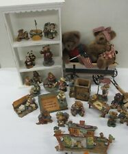 Boyds Bear Resin Lot of Collectible Figurines Patriotic Noah's Ark (Cie)