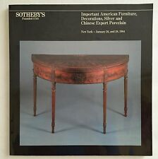 Sotheby's:Important American Furniture/Chinese Export Porcelain (26/28 Jan 1984)