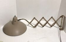Vintage Mid Century Modern Scissor Wall Mount Lamp Light Sconce Perforated Shade