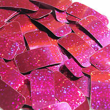 Fuschia Pink Glitter Sparkle Sequins Rectangle 1.5 inch Couture Paillettes