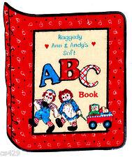 "5.5"" RAGGEDY ANN ANDY SCHOOL CHALKBOARD TEACHER ABC FABRIC APPLIQUE IRON ON"