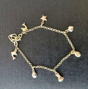 A Pretty Ladies 18ct Gold Charm Bracelet 19cm