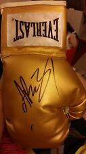 ANDY RUIZ JR SIGNED AUTOGRAPHED GOLD EVERLAST BOXING GLOVE MEXICO CHAMPION+PROOF