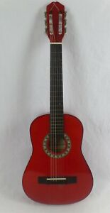 Caraya Cherry Red Classical Acoustic Guitar 1/2 Size C-941RD1/2 with gig bag