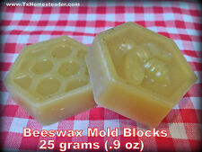 25 Grams 0.9 Ounces 100% Pure Unrefined Beeswax From Decorative Mold