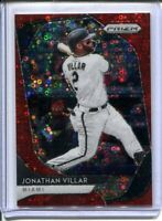 2020 PANINI PRIZM RED DISCO JONATHAN VILLAR #202 NEW YORK METS #'D 042/149