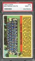 1956 TOPPS #48 COLTS TEAM PSA 9 COLTS  *DS7817