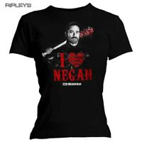 Official Skinny Ladies T Shirt The Walking Dead Love HEART NEGAN All Sizes