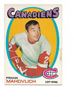 1971-72 O-Pee-Chee #105 Frank Mahovlich Montreal Canadiens ***