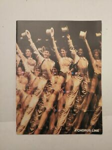 1980's A CHORUS LINE BROADWAY PROGRAM PLAYBILL NICE PHOTOS