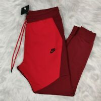 NIKE Sportswear Men's Tech Fleece Pants Red/University 805162-677 Size Large L