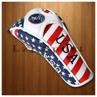 US Flag Golf Headcover Cover For Titleist Callaway Adams Ping Hybrid Rescue Club