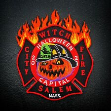 Salem MA Fire dept 2021 Halloween Patch - Official - Extremely Rare - LAST ONE