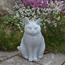 Massive Steinfigur Kater Katze stehend Tierfigur aus Steinguss frostfest