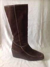 Dorothy Perkins Brown Mid Calf Suede Boots Size 5