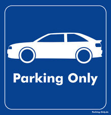 Parking Only - Audi Coupe Typ 89 - Aufkleber