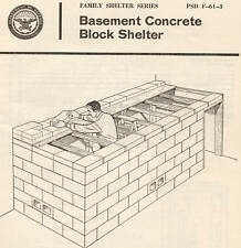 Civil Defense, Nuclear War, Fallout Shelter Plans Information - -Free Shipping