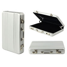 New Metal Mini Briefcase Suitcase Business Bank Card Name Card Holder Case Box
