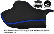 CARBON GRIP R BLUE STRIPE CUSTOM FITS SUZUKI GSXR 1000 13-16 FRONT SEAT COVER