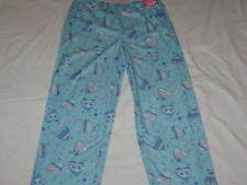 "Girls XOXO Size 14/16 XL Soft ""Doodle Heart"" Fleece Sleep Pants on Blue Pink NWT"